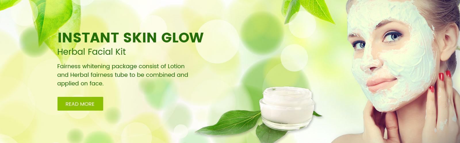 Instant Skin Glow Herbal Facial Kit
